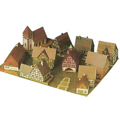 Quebra-Cabeças 3D Artesanato de Papel Arquitetura Faça Você Mesmo Cartão de Papel Duro Clássico Crianças Para Meninos Unisexo Dom