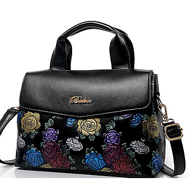 Women Bags All Seasons PU Tote for Casual Outdoor Black