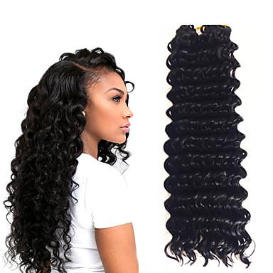 14inch 3 piece a lot 1b deep twist jumbo hair extensions kanekalon hair braids 5 6pack for a head
