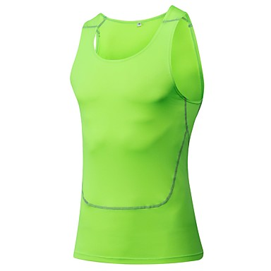 Men's Running Tank Running Baselayer Sleeveless Fitness, Running & Yoga Tank Compression Clothing for Yoga Exercise & Fitness Leisure