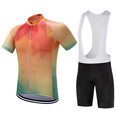 FUALRNY® Cycling Jersey with Bib Shorts Men's Short Sleeves Bike Clothing Suits Bike Wear Quick Dry Moisture Permeability Reduces Chafing