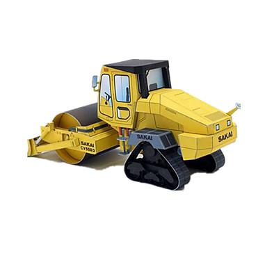 Carros de Brinquedo Quebra-Cabeças 3D Quebra-Cabeça Artesanato de Papel Forma Cilindrica Construções Famosas Arquitetura 3D Faça Você
