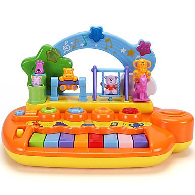 Acessório para Casa de Boneca Teclado Eletrônico Brinquedo Educativo Instrumento Musical de Brinquedo Amiga-do-Ambiente Diversão Crianças