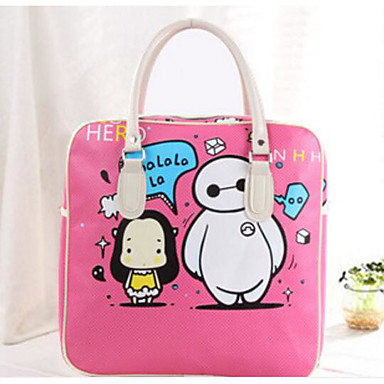 Women Bags All Seasons PU Travel Bag for Casual Outdoor Blue Yellow Blushing Pink