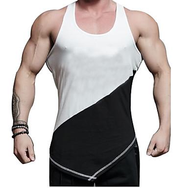 Homens Regata para Academia Secagem Rápida Respirabilidade Confortável Casual Malha Íntima Blusas para Exercício e Atividade Física