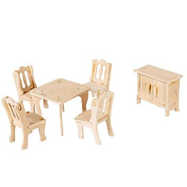 3D Puzzles Jigsaw Puzzle Wood Model Plane / Aircraft Famous buildings Furniture Architecture 3D DIY Card Paper Wood Classic Unisex Gift