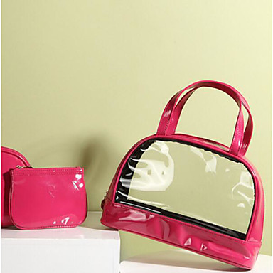 Women Bags PVC PU Cosmetic Bag for Casual Outdoor All Seasons Blushing Pink Yellow Fuchsia
