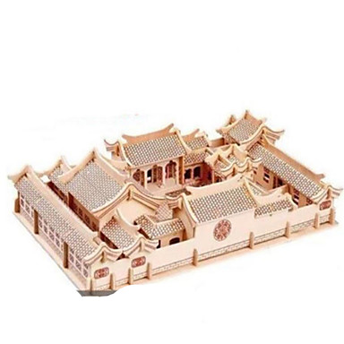 3D-puslespill Metallpuslespill Tremodeller Modellsett Arkitektur GDS Naturlig Tre Klassisk Barne Voksne Unisex Gave