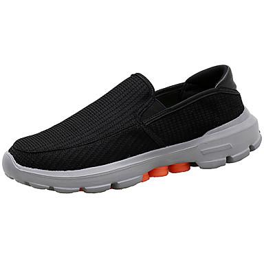 Homens sapatos Borracha Primavera Outono Conforto Mocassins e Slip-Ons para Ao ar livre Preto Cinzento Khaki