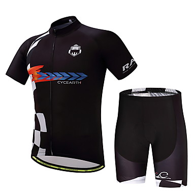 Homens Camisa com Shorts para Ciclismo Moto Conjuntos de Roupas, Secagem Rápida, Verão