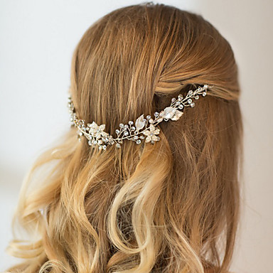 Rhinestone Alloy Headbands Headwear Head Chain Hair Tool with Floral 1pc Wedding Special Occasion Anniversary Congratulations Party /