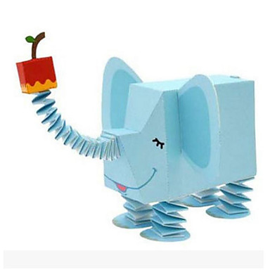 3D Puzzles Paper Model Paper Craft Model Building Kit Square 3D Animals DIY Hard Card Paper Classic Cartoon Unisex Gift