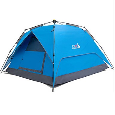 BSwolf 3 - 4 person Tent Double Layered Camping Tent Outdoor Automatic Tent Waterproof / Rain-Proof / Dust Proof for Camping / Hiking