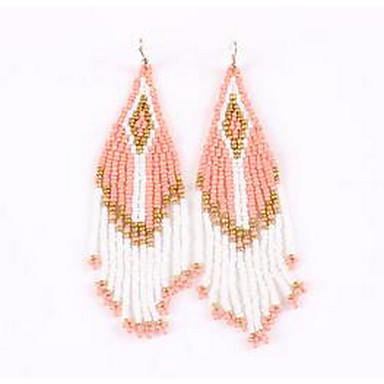Women's Drop Earrings Jewelry Tassel EVA Resin Alloy Jewelry For Wedding Party Thank You Daily Stage Dress
