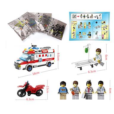 ENLIGHTEN Carros de Brinquedo Blocos de Construir Quadrada Ambulância Para Meninas Para Meninos Unisexo Brinquedos Dom
