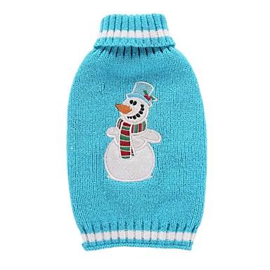 Cica Kutya Kabátok Pulóverek Karácsony Kutyaruházat Rajzfilm Kék Spandex Cotton/Linen Blend Jelmez Háziállatok számára Party