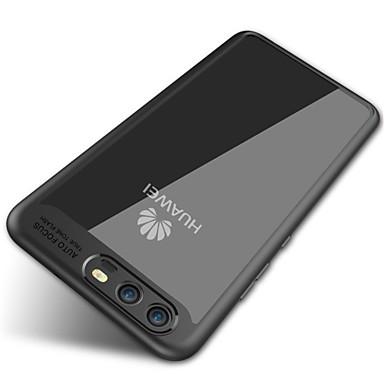 Case Kompatibilitás Huawei Tükör Átlátszó Fekete tok Tömör szín Puha Szilikon mert P10 Plus P10 Huawei
