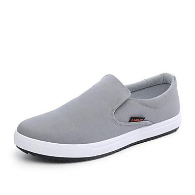 Herrn Schuhe Leinwand Winter Frühling Sommer Herbst Komfort Sneakers Walking Kombination für Normal Draussen Büro & Karriere Schwarz Grau