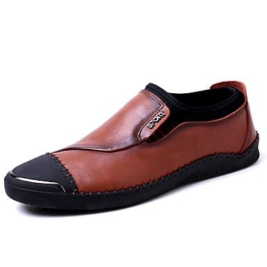 Herren Schuhe Echtes Leder Nappaleder Leder Winter Herbst Komfort Leuchtende Sohlen formale Schuhe Tauchschuhe Loafers & Slip-Ons Für