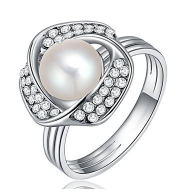Damen Bandringe Imitierte Perlen Personalisiert Luxus Klassisch Grundlegend Sexy Liebe Modisch nette Art Elegant Künstliche Perle Aleación