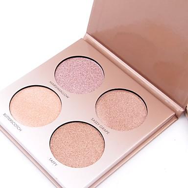 4 couleurs Poudre Bronzeurs Stabilos Sec / Lueur / Mélange Correcteur Visage Chine Maquillage Cosmétique Papier nacre