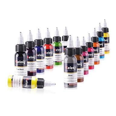 14 × 30 مل متنوعة الألوان أحبار الوشم الكلاسيكية وشم الصباغ مجموعة اللون ألوان ماكياج