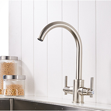 Kitchen faucet - Contemporary Nickel Brushed Modern / Contemporary Vessel