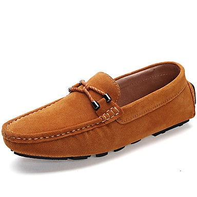 Men's Moccasin Suede Fall / Winter Loafers & Slip-Ons Blue / Light Brown / Party & Evening
