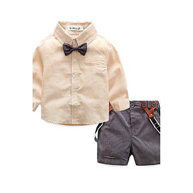 Bambino Da Ragazzo A Strisce - Abbigliamento Casual A Strisce Manica Lunga 100% Cotone Completo Blu #06176359