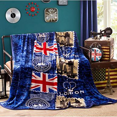 Korallenfleece Fahne Gemischte Polyester/Baumwolle Decken