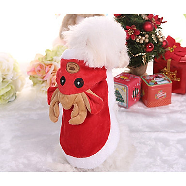 Dog Vest Dog Clothes British Red Cotton Costume For Pets Men's / Women's Christmas