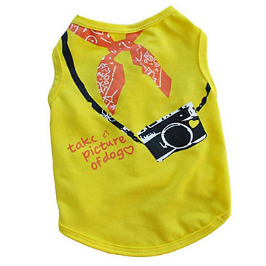 Dog Vest Dog Clothes Letter & Number Yellow / Fuchsia / Blue Cotton Costume For Pets Summer Men's / Women's Casual / Daily