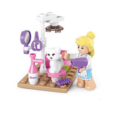 Bausteine / Minifiguren aus Blockbausteinen / Tue so als ob du spielst Burg / Haus Tiere Mädchen Geschenk