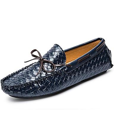 Férfi cipő Nappa Leather Tél Ősz Mokaszin Papucsok & Balerinacipők mert Hétköznapi Party és Estélyi Fekete Kék