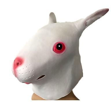 voordelige Maskers voor de feestdagen-Halloweenmaskers Dierenmasker Latex Kumi Liima Rabbit Horrorthema Volwassenen Unisex