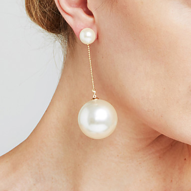 Women's Drop Earrings Imitation Pearl Personalized Sexy Movie Jewelry Statement Jewelry Fashion Euramerican Copper Circle Jewelry