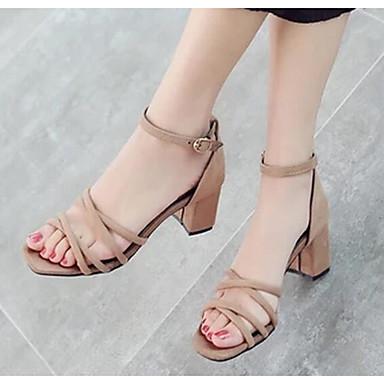 Damen Schuhe PU Sommer Komfort Sandalen für Normal Schwarz Grau Kamel