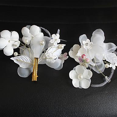 Tüll Chiffon Künstliche Perle Spitze Stoff Seide Titan Netz Blumen Haarklammer 1 Hochzeit Besondere Anlässe Geburtstag Party / Abend
