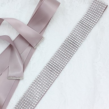 Satin / Tulle Wedding / Special Occasion / Anniversary Sash With Sequin Sashes