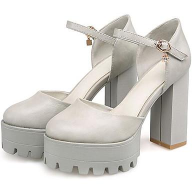 Damen Schuhe Nubukleder PU Sommer Komfort Sandalen Für Normal Weiß Grau Rosa