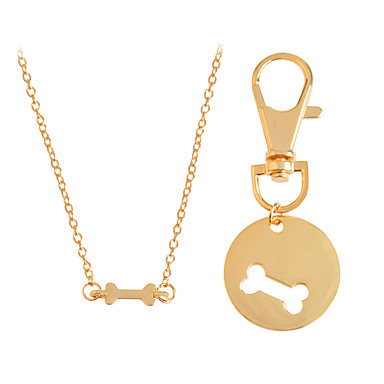 Men's / Women's Luxury Pendant Necklace - Personalized / Luxury / Hip-Hop Circle / Irregular Gold / Silver Necklace For Christmas /