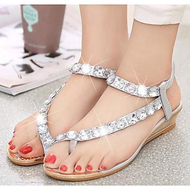 povoljno Ženske cipele-Žene Sandale PU Udobne cipele Ljeto Pink