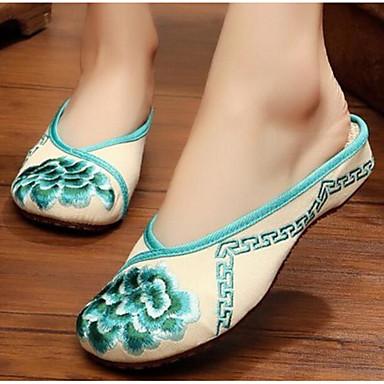 Damen Schuhe Stoff Sommer Komfort Slippers & Flip-Flops Für Normal Rot Grün Blau