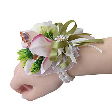 Esküvői virágok Virágcsokrok csuklóra Esküvő Organza Szatén 3,94