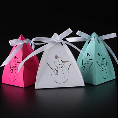 Mások Gyöngy-papír Favor Holder val vel Szalagok Ajándék dobozok