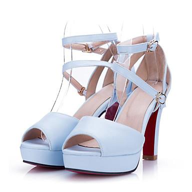 Damen Schuhe PU Sommer Komfort High Heels Für Normal Weiß Schwarz Rosa Marineblau