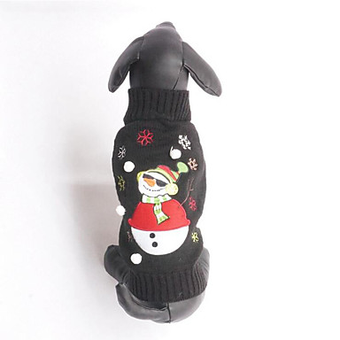 Dog Sweater Dog Clothes Christmas Cotton Costume For Pets Men's / Women's Christmas