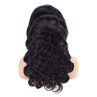 Human Hair Lace Front Wig Curly / Body Wave Wig 130% Natural Hairline / African American Wig / 100% Hand Tied Women's Medium Length / Long Human Hair Lace Wig