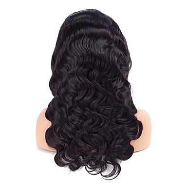 Emberi haj Csipke eleje Paróka Göndör Hullámos haj 130% Sűrűség 100% kézi csomózású Afro-amerikai paróka Természetes hajszálvonal Közepes