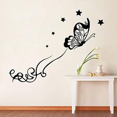 الحيوانات رومانسية أزياء ملصقات الحائط لواصق حائط الطائرة لواصق حائط مزخرفة مادة تصميم ديكور المنزل جدار مائي